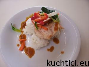 Keeng Lieng-Barma/ krůtí maso se zeleninou/