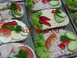 Obložený chléb s vejci